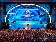 В преддверии Дня военного разведчика Владимир Путин принял участие в торжественном мероприятии, посвящённом 100-летию образования Главного управления Генерального штаба Вооруженных Сил России