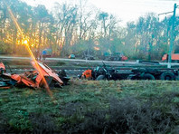 В Краснодарском крае поезд протаранил грузовик, 14 человек пострадали, четверо в больнице (ВИДЕО)