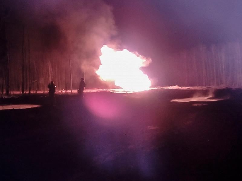 В Рязани прорвало магистральный газопровод, столб пламени поднялся на 15 метров