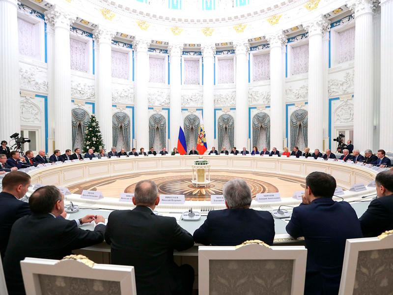 Президент РФ встретился с руководством Государственной Думы и Совета Федерации