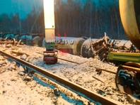В Омской области сошли с рельсов 35 вагонов поезда с военной техникой (ФОТО, ВИДЕО)