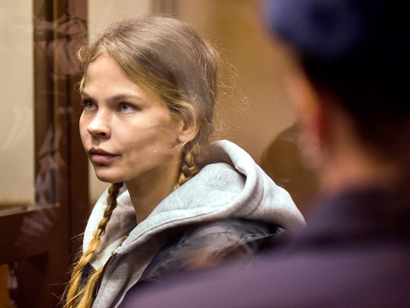 Настя Рыбка (Анастасия Вашукевич) в Нагатинском суде, 19 января 2019 года