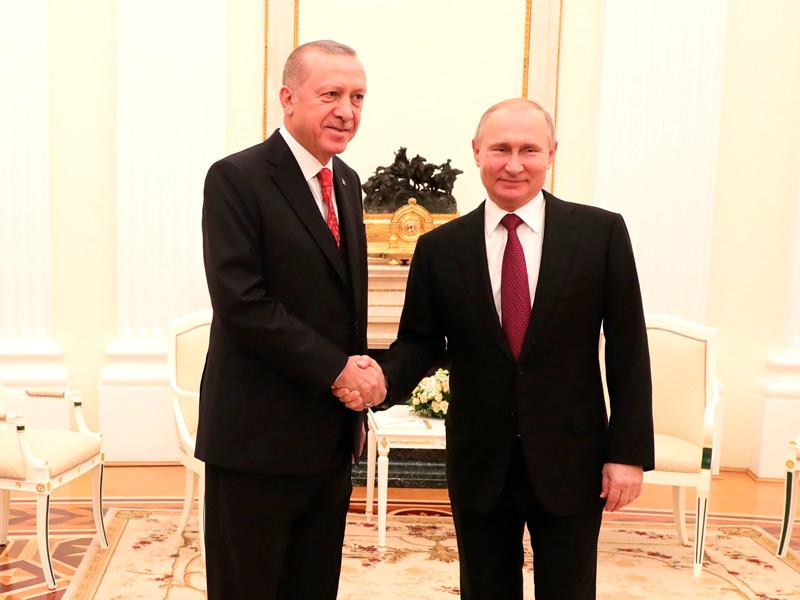 Владимир Путин и Реджеп Тайип Эрдоган, 23 января 2019 года