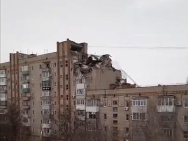 В девятиэтажном доме в городе Шахты ростовской области произошел взрыв бытового газа. Разрушены два этажа, повреждены четыре квартиры