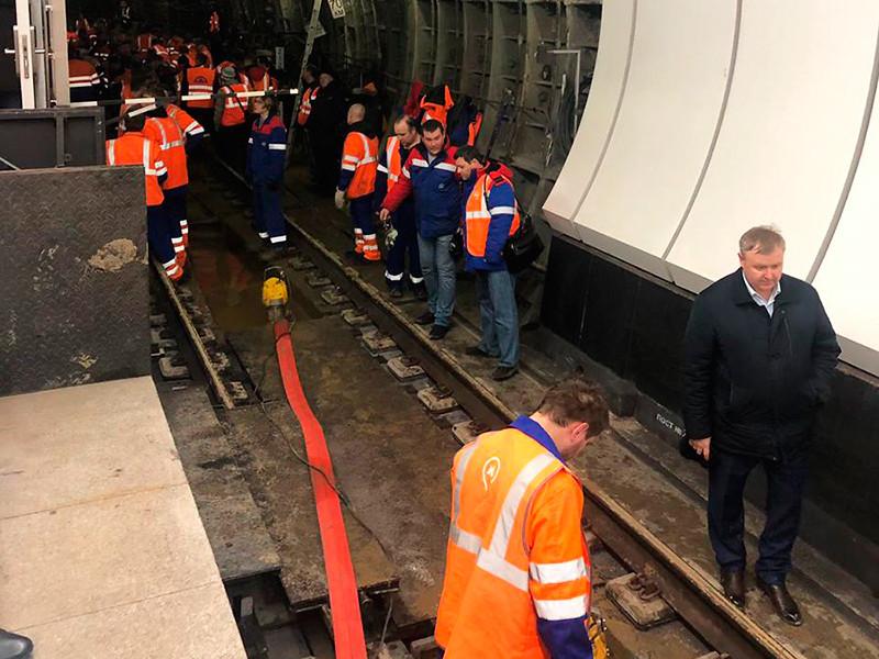 Три станции столичного метро закрыты из-за подтопления