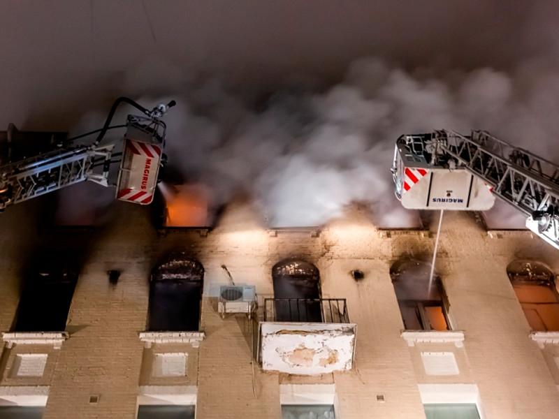 Пожар в доме 12 на Никитском бульваре