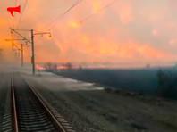 Пожары на Дальнем Востоке: в Приморье поезд прорвался сквозь стену огня и дыма (ВИДЕО)