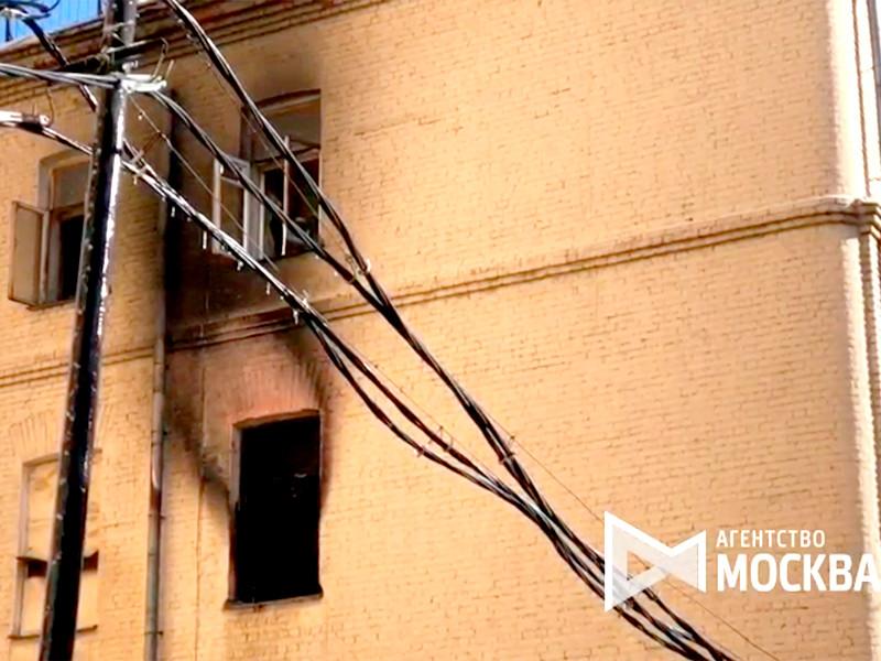 Пожар произошел в здании Московской государственной консерватории имени П.И. Чайковского в Среднем Кисловском переулке, дом 4