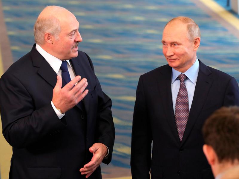 Владимир Путин и Президент Республики Беларусь Александр Лукашенко ответили на вопросы журналистов, 15 февраля 2019 года