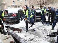 Врио губернатора Петербурга в компании подчиненных и бюджетников взялся за уборку улиц от снега и наледи (ФОТО)