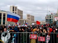 В Москве на митинге против изоляции российского интернета полицию обеспокоили воздушные шарики