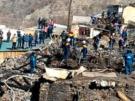Пожар уничтожил 11 домов в высокогорном дагестанском селе, их жители получат по 100 тысяч рублей (ВИДЕО)