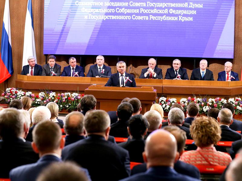 Председатель Госдумы Вячеслав Володин предложил обязать Украину компенсировать Крыму экономические потери от нахождения в ее составе