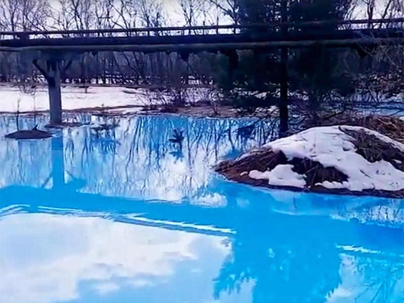 В Нижегородской области выяснили причины появления голубого озера