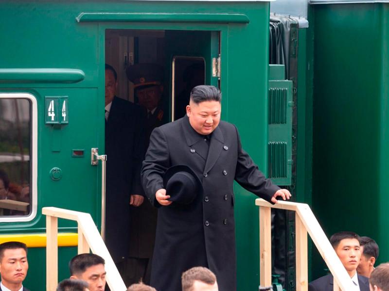 Ким Чен Ын, станция Хасан, 24 апреля 2019 года