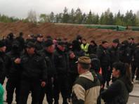 В Архангельской области охранники избили протестующих против строительства мусорного полигона возле железнодорожной станции Шиес