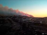 Роспотребнадзор не зафиксировал опасного загрязнения атмосферы в Омске, где третий день горит свалка мусора