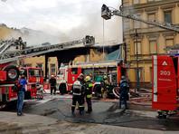 На Пречистенке в центре Москвы сгорел памятник архитектуры начала XX века (ВИДЕО)