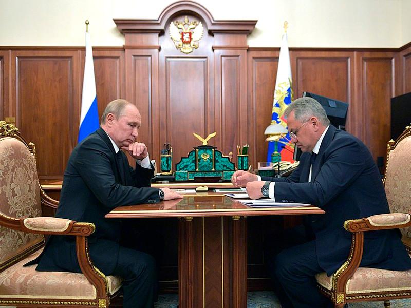 Владимир Путин и Сергей Шойгу, 2 июля 2019 года