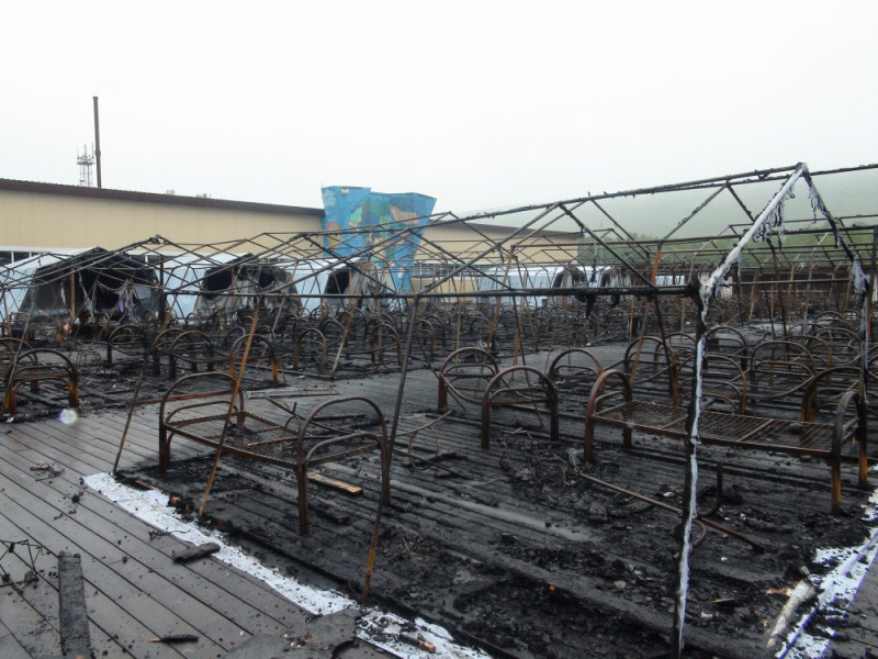 """Четыре ребенка пострадали, один погиб при пожаре в палаточном лагере """"Холдоми"""" в Хабаровском крае"""