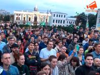 На Трубной площади снова прошел несогласованный митинг в поддержку регистрации независимых кандидатов в  Мосгордуму