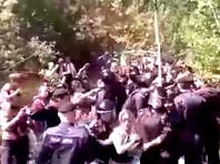 Задержание полицией протестующих в Ликино-Дулево, 18 июля 2019 года