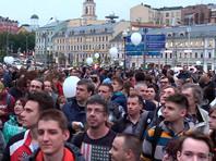 В Москве проходит четвертая акция в поддержку независимых кандидатов в Мосгордуму