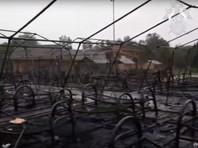 При пожаре пострадали десять человек, среди которых пятеро детей