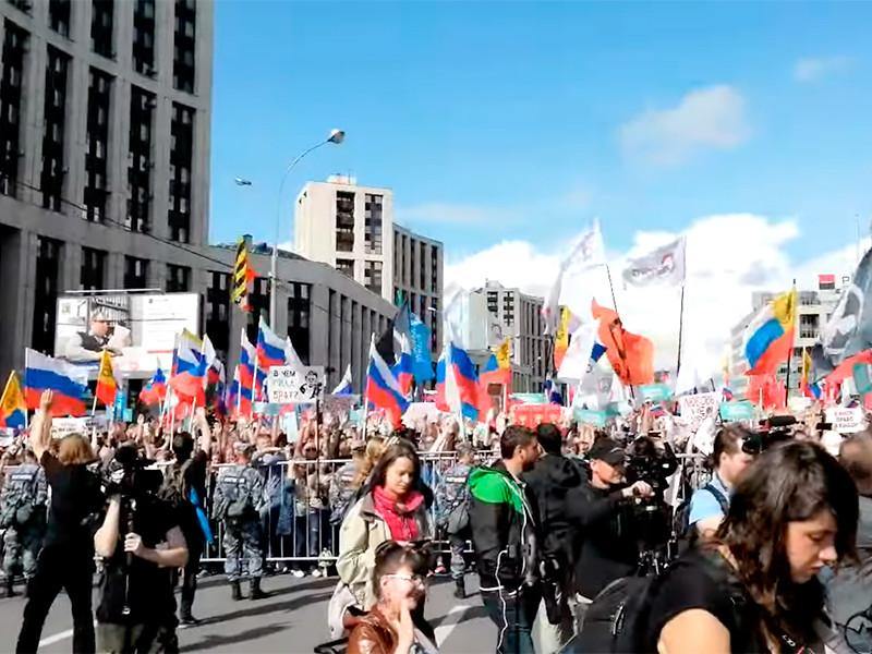 Москва, проспект Академика Сахарова, 20 июля 2019 года