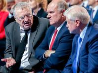 """Согласно опросу, ЛДПР готовы поддержать 13% опрошенных (в июне было 12%), КПРФ - 15.3% (в июне - 15,4%), """"Справедливую Россию"""" - 6% (в июне 6,5%)"""