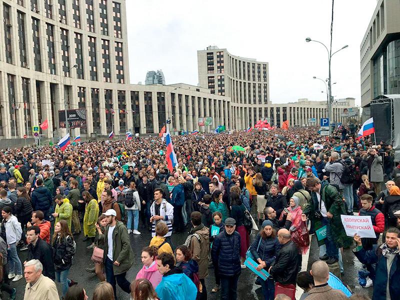 Москва, проспект Академика Сахарова, 10 августа 2019 года
