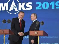 Эрдоган прибыл на МАКС-2019, чтобы обсудить с Путиным растущие разногласия по поводу Сирии, а также закупки военной техники