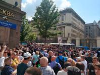 Москва, Тверская площадь, 27 июля 2019 года