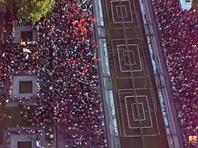 В Петербурге митинг в поддержку независимых кандидатов в Мосгордуму завершился парой задержаний. Полиция не препятствовала акции