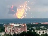 По предварительным данным, загорелся артиллерийский склад, детонируют снаряды