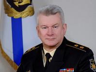 Руководит маневрами в акватории Балтийского моря главнокомандующий ВМФ адмирал Николай Евменов