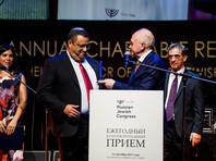 """В этом году Российский еврейский конгресс учредил и впервые вручал на вечере особый знак признательности тем людям, деятельность которых изменила мир - Global Influence Award (""""За глобальное влияние на мир"""")"""