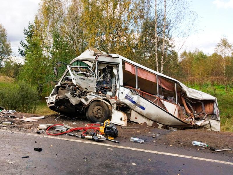 Семь человек погибли, около 30 пострадали при лобовом столкновении автобуса и грузовика в Ярославской области