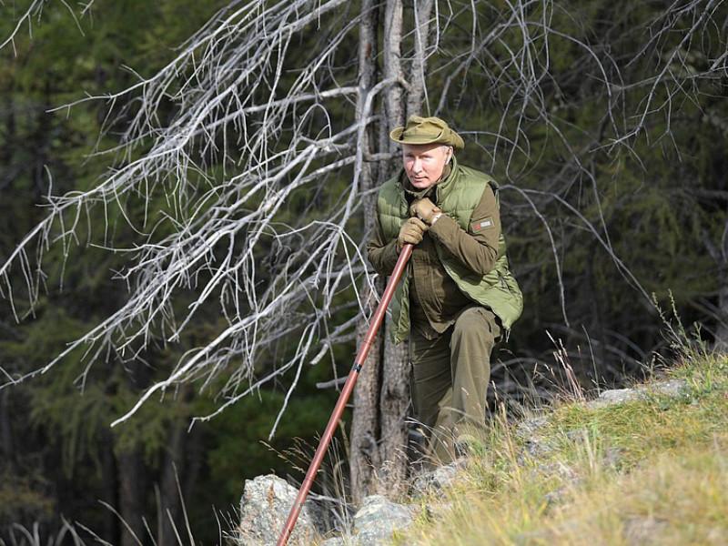 Путин ушел в сибирскую тайгу перед своим 67-летием