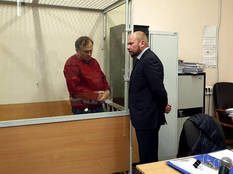 Олег Соколов в Октябрьском районном суде Санкт-Петербурга, 11 ноября 2019 года