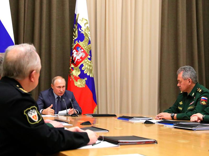 Владимир Путин провел совещание с руководством Минобороны и предприятий ОПК