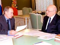 Владимир Путин и Юрий Лужков, январь 2001 года