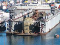 Плавучий док с подлодкой внутри затонул в Севастополе