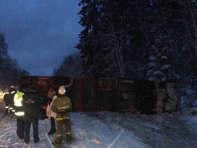 В Псковской области произошло ДТП с участием пассажирского автобуса, пострадали как минимум 19 человек, в том числе три ребенка
