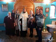 30 ноября в Богоявленском храме города Кургана  прошло крещение Вики Хвостанцевой