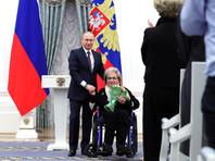 Владимир Путин и Галина Волчек, 2017 год