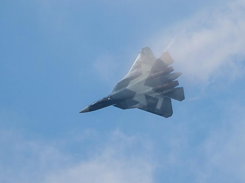 В Хабаровском крае во время испытания разбился истребитель Су-57