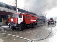 Пожар в торговом комплексе в Искитиме Новосибирской области (ВИДЕО)