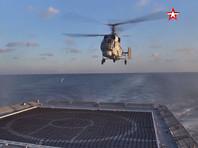 """Опубликовано ВИДЕО """"самолетных"""" учений вертолетов Ка-27, догоняющих фрегат в Черном море"""