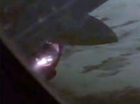 В Новосибирске у самолета Airbus перед вылетом загорелся двигатель (ВИДЕО)